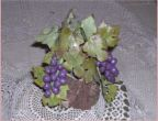 Grapes cake topper.
