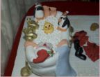 Santa in the bath cake